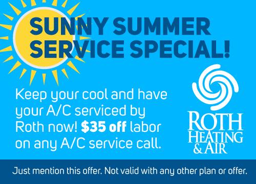 Roth $35 off Labor Summer A/C Service